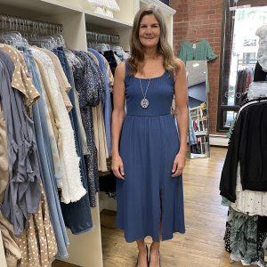 Blue Sleeveless Summer Dress | Ivy Rose Longmont