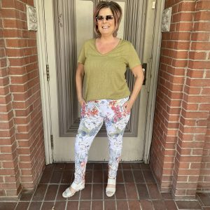 Green Top with Matching Floral Pants | Ivy Rose Longmont