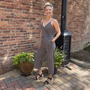 Black and White Jumpsuit from Ivy Rose Longmont