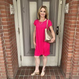 Pink Tshirt Dress at Ivy Rose Longmont