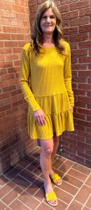 Yellow Long Sleeve Dress | Ivy Rose Longmont