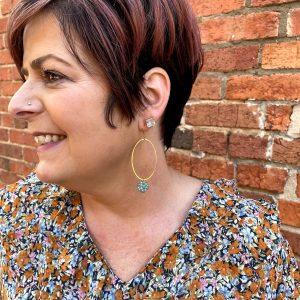 Pretty Gold Hoop Earrings