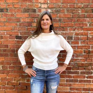 White Sweater Top | Ivy Rose Longmont