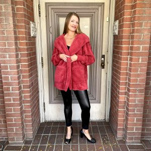 Furry Red Jacket | Ivy Rose