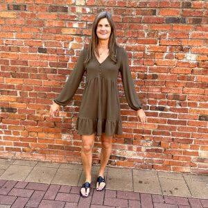 Brown Long Sleeve Dress | Ivy Rose Longmont