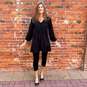 Short Black Dress with Long-sleeves | Ivy Rose